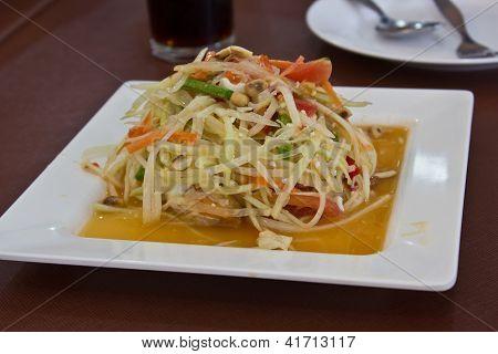 Papaya Salad With Salt Egg1