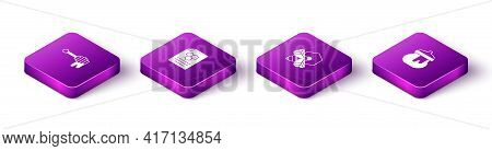 Set Isometric Honey Dipper Stick With Honey, Honeycomb, Bee And Honeycomb And Jar Of Icon. Vector