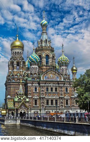 St Petersburg, Russia The Church Of The Savior On Spilled Blood . Собор
