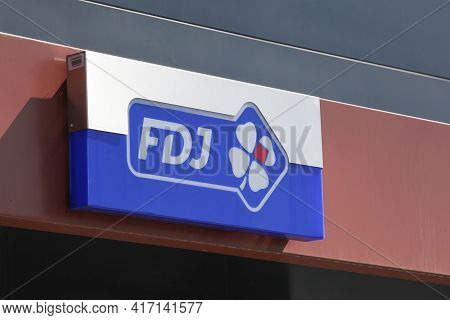 Saint-priest, France - September 8, 2018: Francaise Des Jeux Also Called Fdj Is The Operator Of Nati