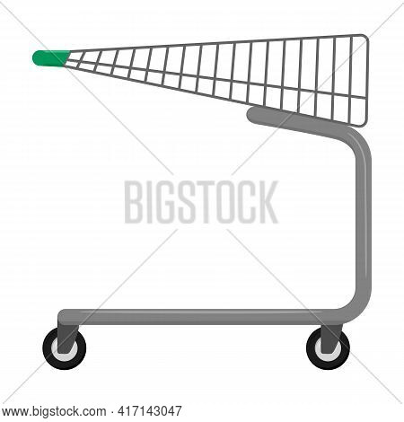 Trolley Vector Icon.cartoon Vector Icon Isolated On White Background Trolley.