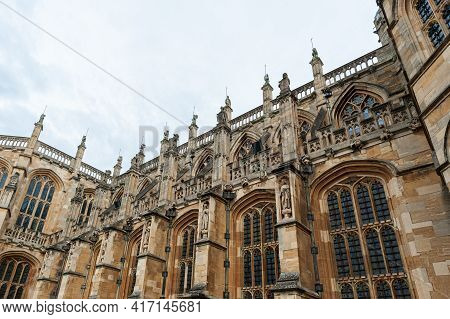 08-22-2020. The Queen's Free Chapel Of The College Of St. George, Windsor Castle In Windsor In Berks