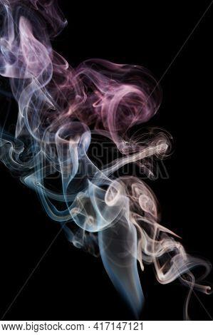 Colorful Rainbow Transparent Smoke Swirls