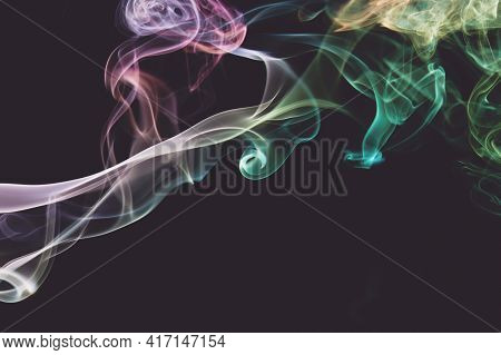 Clean Smooth Colorful Smoke Waves