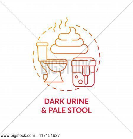 Dark Urine And Pale Stool Concept Icon. Liver Disease Symptom Idea Thin Line Illustration. Diabetes
