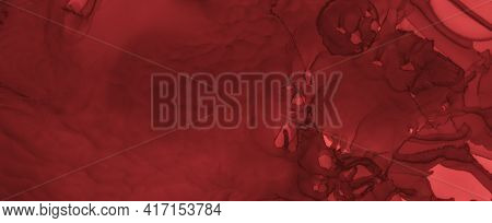 Grungy Blood Background. Red Ink Wallpaper. Horror Spatter Black. Watercolour Bloody Pattern. Blood