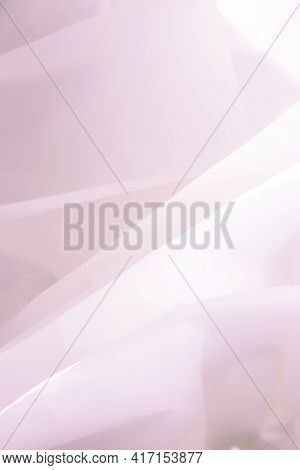 Beautiful Pink Abstract Background With Folds And Bends Of Paper. Draped Background. Copy Space
