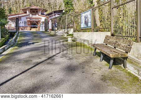 Sochi, Russia - February 27, 2020: The Road To Entrance To Yew-boxwood Grove Of Caucasian Biosphere