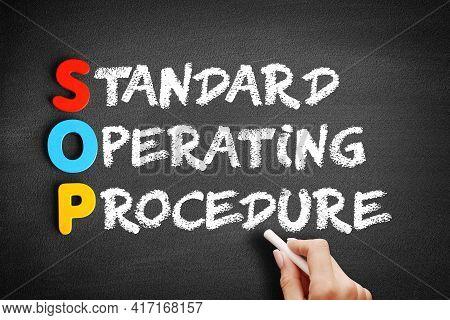 Sop - Standard Operating Procedure Acronym On Blackboard