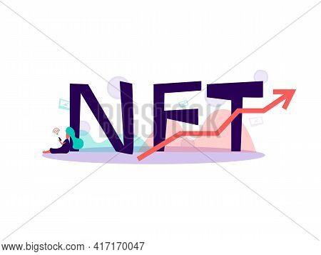 Nft Concept, Non Refundable Token. Future Of Art Collectibles. Blockchain Technology. Illustration I