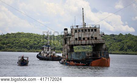 ..scraps From The Monte Serrat Ferry Boat