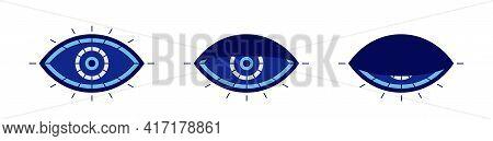 Evil Eye Symbol. Blinking Or Sleeping Eye.