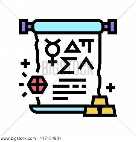Alchemy Astrological Color Icon Vector. Alchemy Astrological Sign. Isolated Symbol Illustration