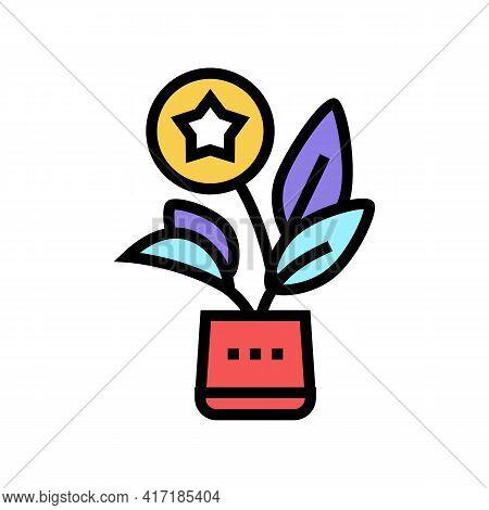 Growth Bonus Color Icon Vector. Growth Bonus Sign. Isolated Symbol Illustration