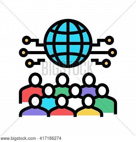 International Forum Color Icon Vector. International Forum Sign. Isolated Symbol Illustration