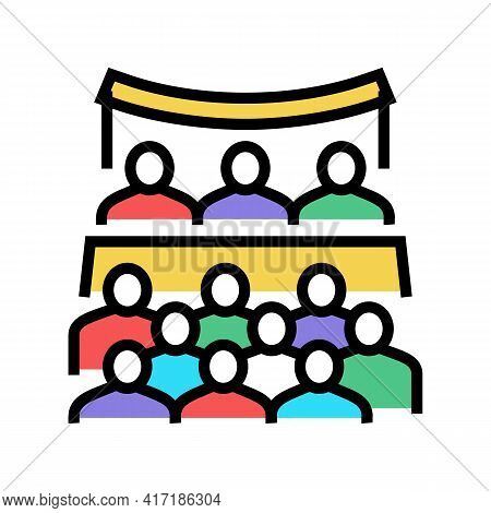 Conference Forum Color Icon Vector. Conference Forum Sign. Isolated Symbol Illustration