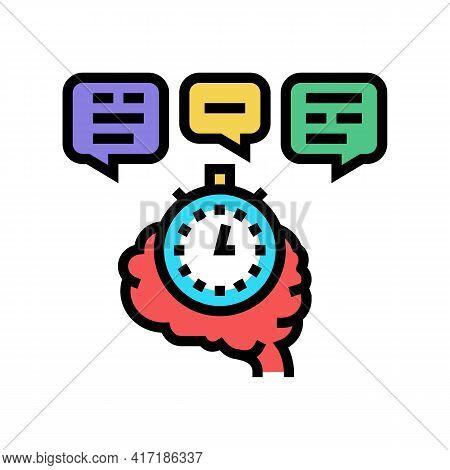 Brainstorming On Forum Color Icon Vector. Brainstorming On Forum Sign. Isolated Symbol Illustration