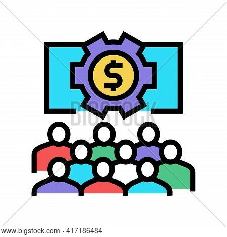Communication Process On Forum Color Icon Vector. Communication Process On Forum Sign. Isolated Symb