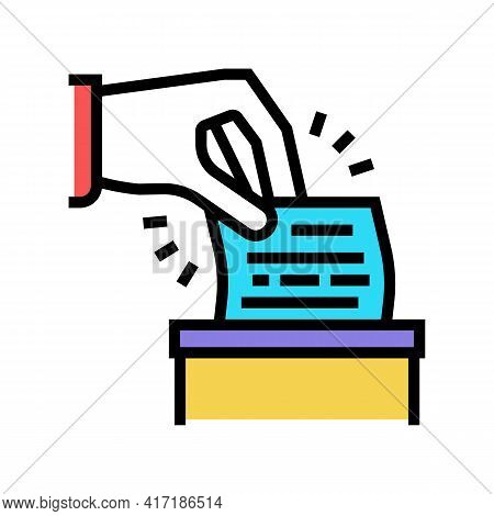 Vote On Forum Color Icon Vector. Vote On Forum Sign. Isolated Symbol Illustration