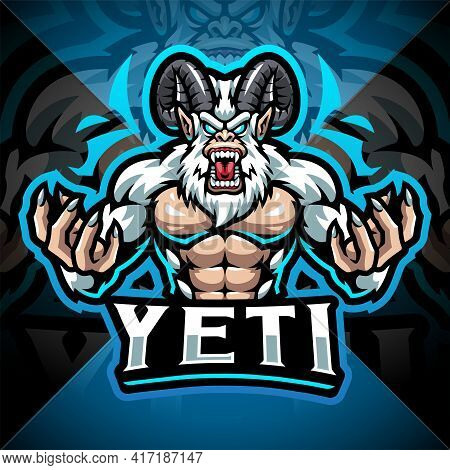 Yeti Esport Mascot Logo Design With Text