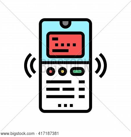 Phone Binding Card Color Icon Vector. Phone Binding Card Sign. Isolated Symbol Illustration