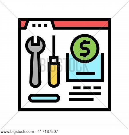 Repair Shop Department Color Icon Vector. Repair Shop Department Sign. Isolated Symbol Illustration