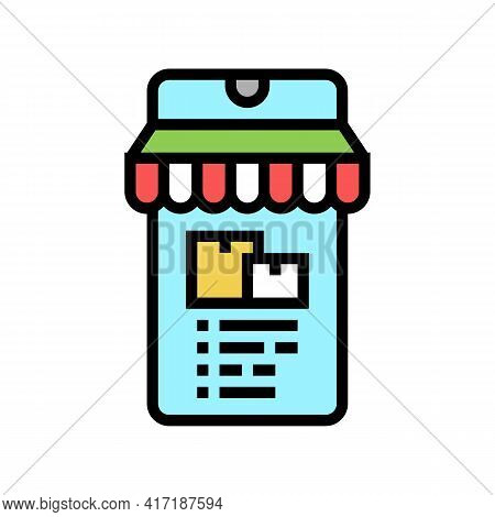 Delivery Shop Department Color Icon Vector. Delivery Shop Department Sign. Isolated Symbol Illustrat