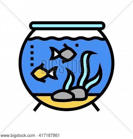 Aquarium Water Color Icon Vector. Aquarium Water Sign. Isolated Symbol Illustration