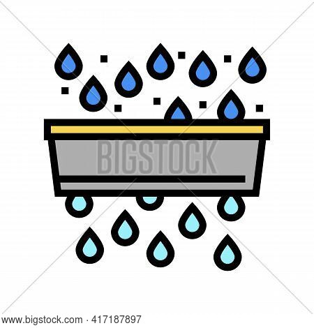 Water Purification And Pollution Color Icon Vector. Water Purification And Pollution Sign. Isolated