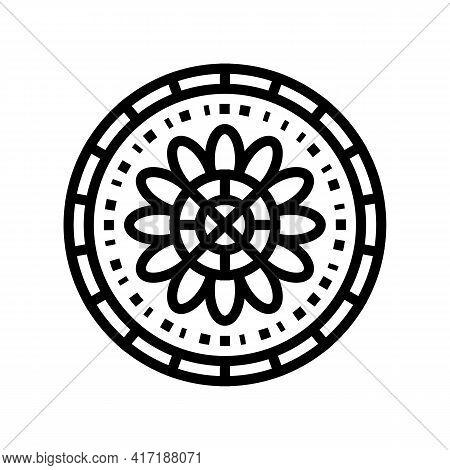 Boho Astrological Line Icon Vector. Boho Astrological Sign. Isolated Contour Symbol Black Illustrati