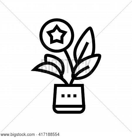Growth Bonus Line Icon Vector. Growth Bonus Sign. Isolated Contour Symbol Black Illustration