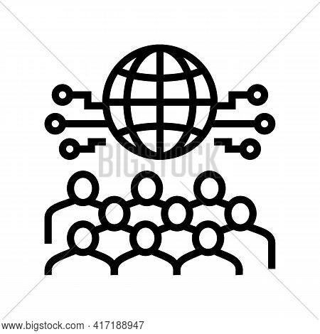 International Forum Line Icon Vector. International Forum Sign. Isolated Contour Symbol Black Illust