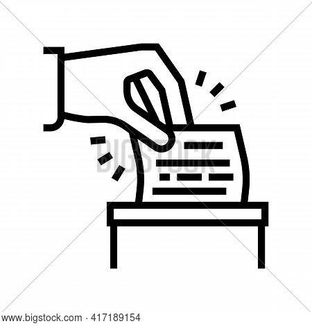 Vote On Forum Line Icon Vector. Vote On Forum Sign. Isolated Contour Symbol Black Illustration