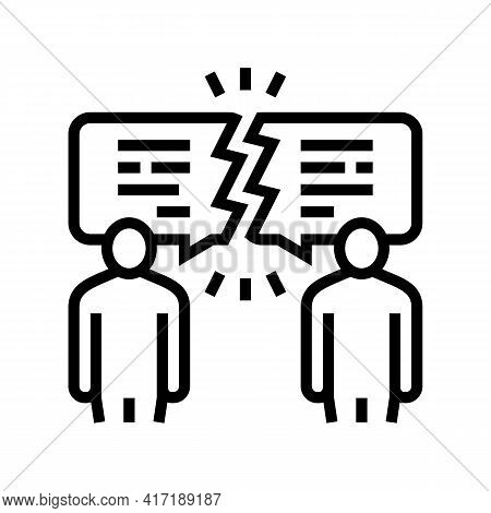 Different Opinions Line Icon Vector. Different Opinions Sign. Isolated Contour Symbol Black Illustra