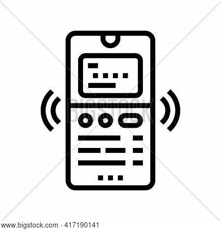 Phone Binding Card Line Icon Vector. Phone Binding Card Sign. Isolated Contour Symbol Black Illustra