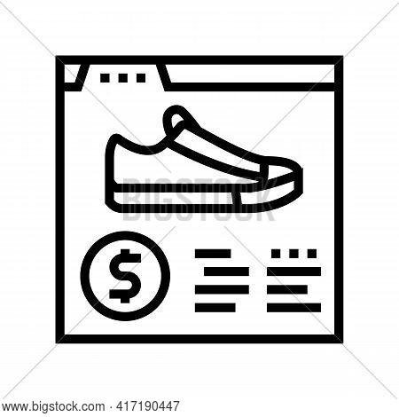 Shoes Shop Department Line Icon Vector. Shoes Shop Department Sign. Isolated Contour Symbol Black Il