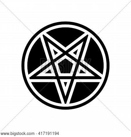 Mystical Ornament Glyph Icon Vector. Mystical Ornament Sign. Isolated Contour Symbol Black Illustrat