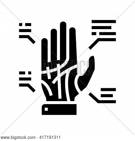 Palmistry Astrological Glyph Icon Vector. Palmistry Astrological Sign. Isolated Contour Symbol Black