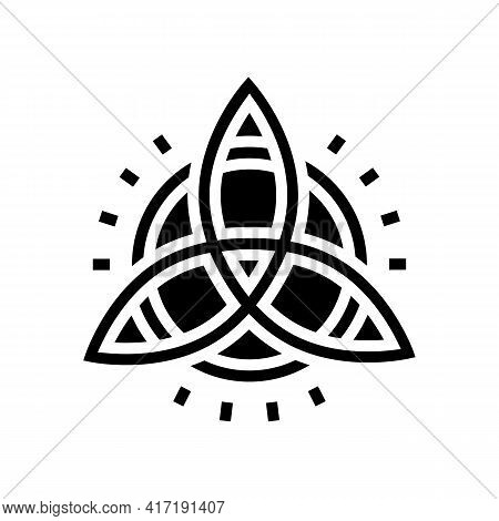 Symbol Astrological Glyph Icon Vector. Symbol Astrological Sign. Isolated Contour Symbol Black Illus