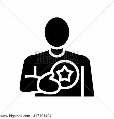 Client Bonus Glyph Icon Vector. Client Bonus Sign. Isolated Contour Symbol Black Illustration