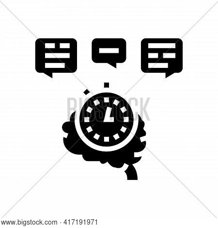 Brainstorming On Forum Glyph Icon Vector. Brainstorming On Forum Sign. Isolated Contour Symbol Black