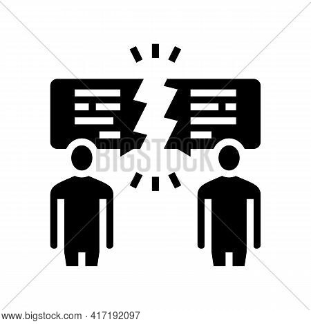 Different Opinions Glyph Icon Vector. Different Opinions Sign. Isolated Contour Symbol Black Illustr