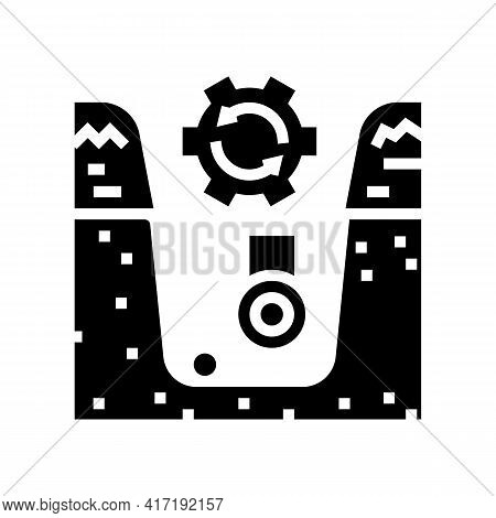 Supply Of Land Communications Glyph Icon Vector. Supply Of Land Communications Sign. Isolated Contou