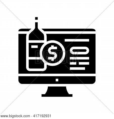 Alcohol Shop Department Glyph Icon Vector. Alcohol Shop Department Sign. Isolated Contour Symbol Bla