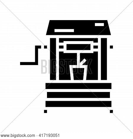Well Water Glyph Icon Vector. Well Water Sign. Isolated Contour Symbol Black Illustration