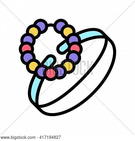 Bracelets Jewellery Color Icon Vector. Bracelets Jewellery Sign. Isolated Symbol Illustration