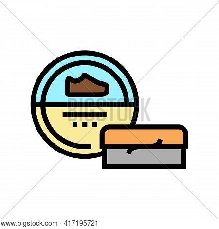 Polishing Paste Shoe Care Color Icon Vector. Polishing Paste Shoe Care Sign. Isolated Symbol Illustr