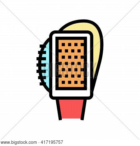 Multifunctional Brush Shoe Care Color Icon Vector. Multifunctional Brush Shoe Care Sign. Isolated Sy