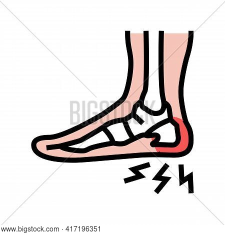 Heel Spur Disease Color Icon Vector. Heel Spur Disease Sign. Isolated Symbol Illustration