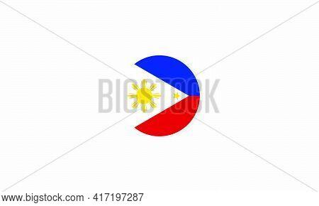 Philippines Circle Flag Graphic Design Vector  Illustration.